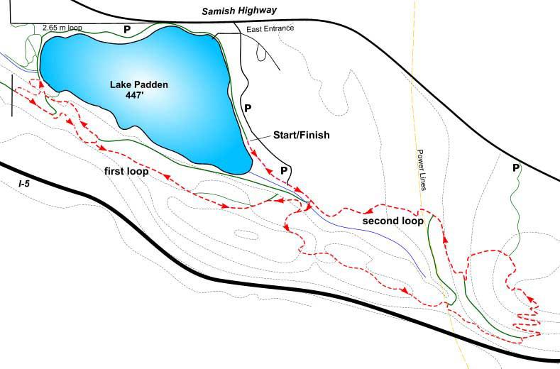 GBRC Padden Mudfest Map
